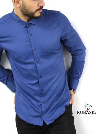 Мужская рубашка с длинным рукавом Rubaska Турция(27-17-802)