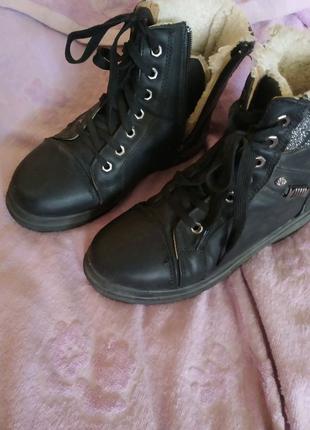 Ботинки зимние на меху, 39 размер