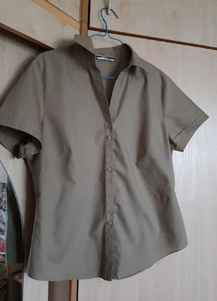 Рубашка с короткими рукавами, цвет-хаки