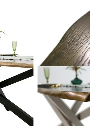 Стол в стиле лофт | Орех (темный) | 1800х900мм