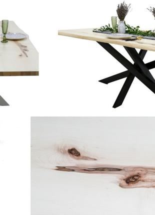 Стол в стиле лофт | Клен (светлый) | 1600х850мм