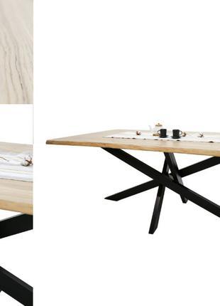 Стол в стиле лофт | Дуб (без сучка) | 1800х900мм