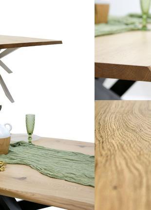 Стол в стиле лофт | Дуб (мореный) | 2100х950мм