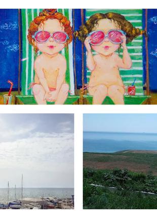 Участок с панорамным видом на море.