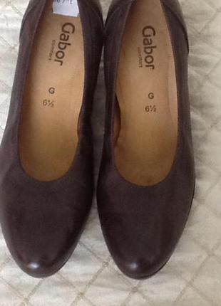 Немецкие кожаные туфли gabor 40 (26.5-8.5)