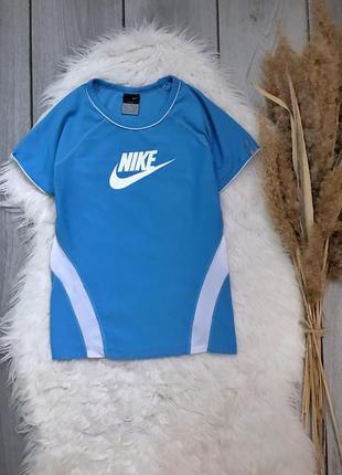 🔥акция 1+1=3🔥 nike найк оригинал футболка синяя спереди лого x...