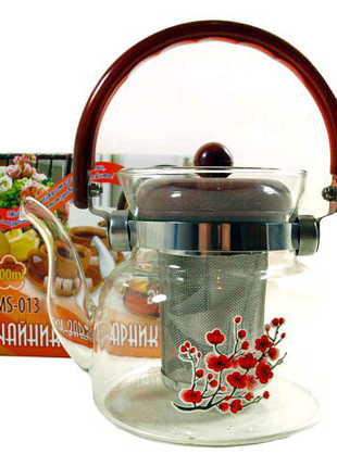 Чайник - Заварник STENSON ST-0136, 1400МЛ\СКЛО