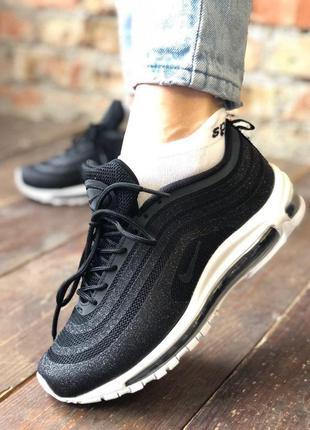 Крутые женские кроссовки nike air max 97 чёрные