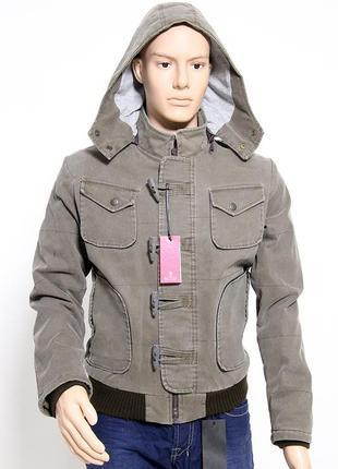 Мужская куртка бомбер р. s 44 46 евро зима демисезонная от ита...