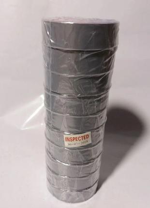 Изолента 3M ПВХ 0,13мм х 19мм х 18м серый (10 шт/уп)