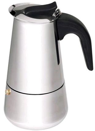 Гейзерная кофеварка Empire Stainless Steel 450мл на 9 чашек Empir