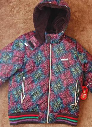 Зимняя куртка, пуховик, с капюшоном