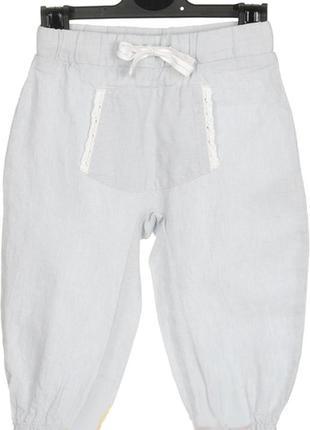 Штаны для девочки льняные р. 74 86 германия lupilu pure collec...