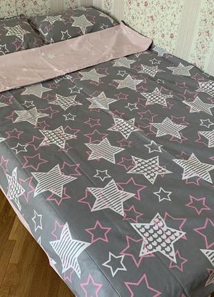 Комплект постельного белья, звезды, полуторный. новый