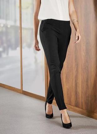Стильные женские брюки чёрные р. 42 евро esmara германия