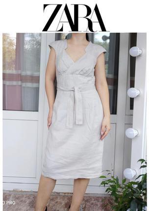 1+1=3   zara woman женственное платье футляр с поясом