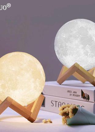 Популярный, дизайнерский Ночник MOON LAMP 13 см на Аккумуляторе.