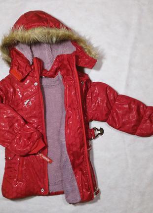 Куртка на девочку 2-6 лет