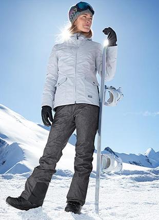 Лыжные термо штаны серые р. евро 38 40 м l tcm tchibo германия