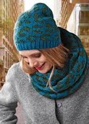 Женская вязаная тёплая шапка tcm tchibo германия