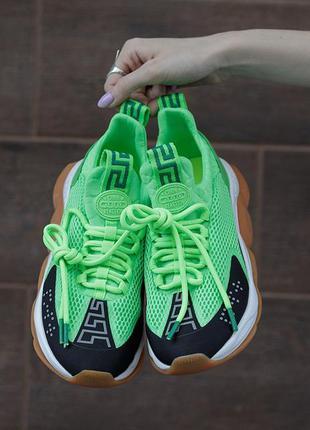 Кросівки versace cross chainer green/black кросівки