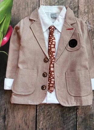 Комплект піджак сорочка галстук