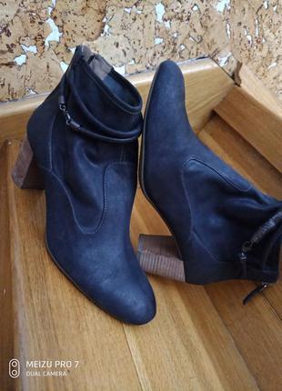 Ecco оригинал, ботинки натуральная кожа, нубук, 40р