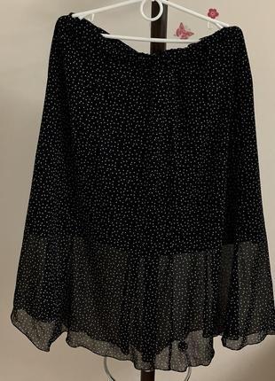 Красивая юбка в мелкий горошек горох