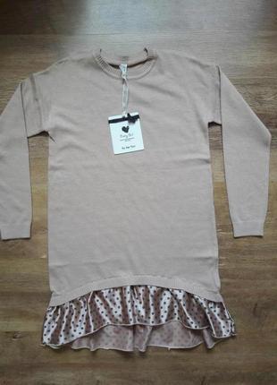Трикотажное платье для девочки,размер 38-40 .Италия