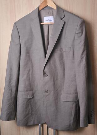 Шикарный легкий шерстяной пиджак daniel hechter 👍🎄🎄🎄