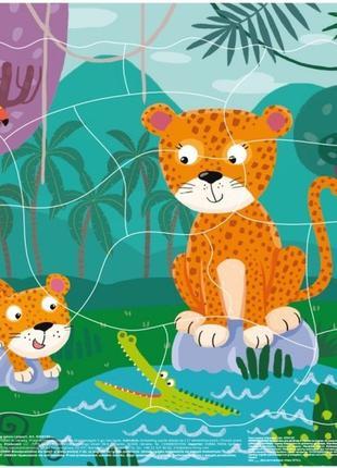 Пазл рамочный Леопарды