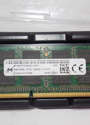DDR3 8Gb Micron Sodimm 2Rx8 PC3L-14900s-13-13-F3 MT16KTF1G64HZ-1