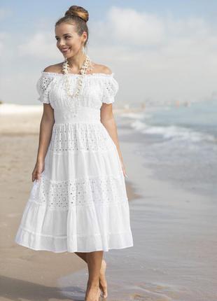 Платье с прошвы