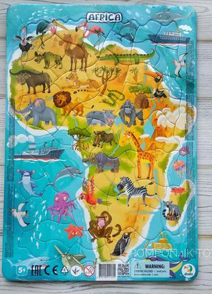 Пазл рамочный Африка