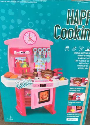 Детская игровая кухня 3830-41 с плитой, духовкой, посудой
