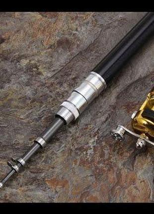 Удочка складная с катушкой и леской, телескопическая, Fishing rod