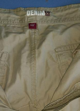 Бриджи шорты мужские DENIMCO™ размер 52 серые бежевые
