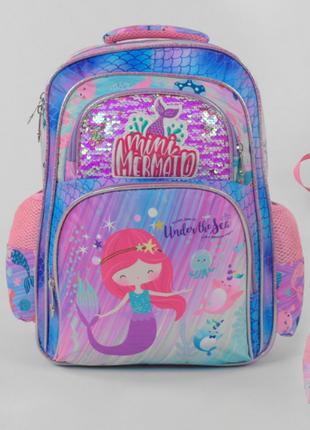 Рюкзак школьный 43630гб  пайетки