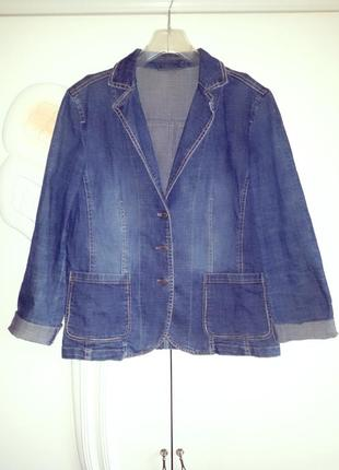 Стильный брендовый джинсовый пиджак/тренч/куртка!m/l/xl