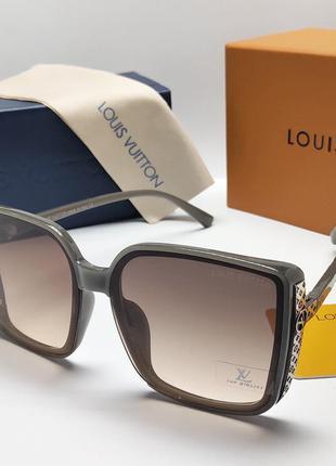 Стильные солнцезащитные очки в стиле louis vuitton в комплекте