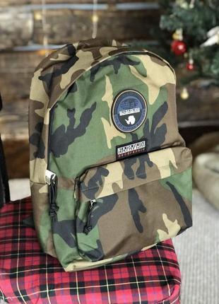 Napapijri мужской рюкзак камуфляжный зеленый цвет (20 литров)