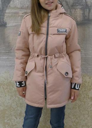 Куртка парка весна осень для девочки 128-152