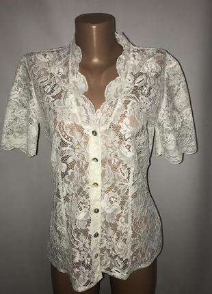 Шикарная гипюровая блузка