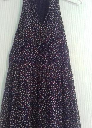 Летнее миди-платье сеточка с широкой юбочкой от zara collection