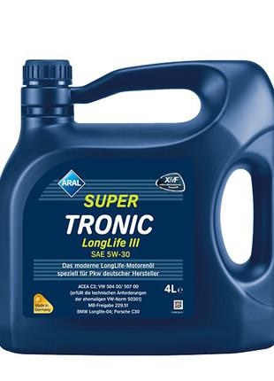 Моторное масло Aral 5w30 Super Tronic Longlife III 4л