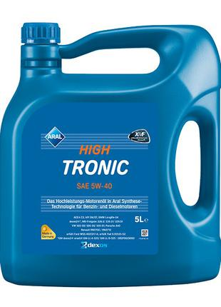 Моторное масло Aral 5w40 High Tronic 5л