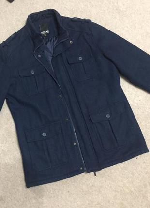 Пальто шерстяное куртка smog
