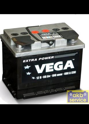 Автомобильный аккумулятор WESTA VEGA 6ст - 60 Ah 480A (+ слева)