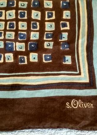 Платок шейный платочек бант лента для волос на сумку s. oliver