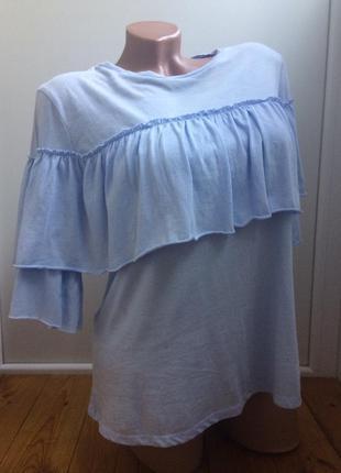 Блуза с воланами s/m pull&bear